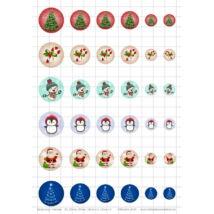 Karácsony-1 Üveglencsés ékszerpapír több méret A5