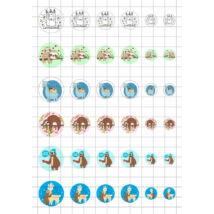 Lajhár-Láma-3 Üveglencsés ékszerpapír több méret A5