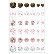Love-5 Üveglencsés ékszerpapír több méret A5