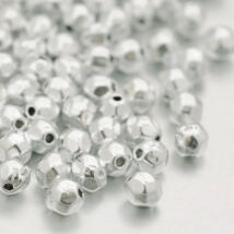 10db Antikolt ezüst színű csiszolt golyó alakú köztes