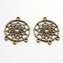 Antikolt bronz színű álomfogó medál