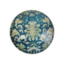 Kék barokk mintás üveglencse (18mm)