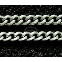 Antikolt ezüst színű csavart lánc (2x3mm)