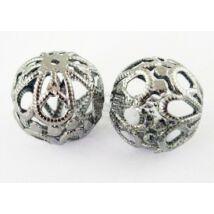Antikolt ezüst színű filigrán golyó
