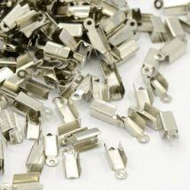 10db Antikolt ezüst színű bőrvégzáró (12x4mm)
