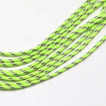Neonzöld csíkos paracord zsinór (2mm)