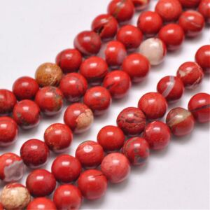 Red jasper ásványgyöngy (8mm)/10db