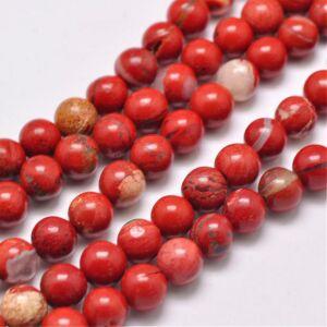 Red Jasper ásványgyöngy (6mm)/10db
