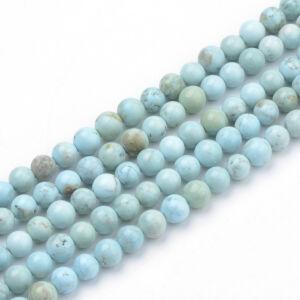 Turquoise ásványgyöngy (6mm)/10db