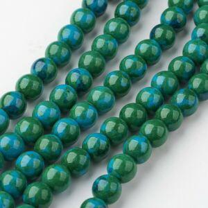 Fehér Jade (színezett) ásványgyöngy (8mm)/10db