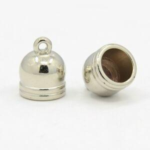 2 db Antikolt ezüst színű végzáró (13x10mm) közepes