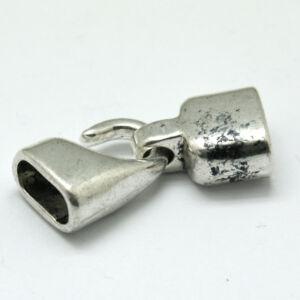 Antikolt ezüst színű kapocs zsinórok lezárásához