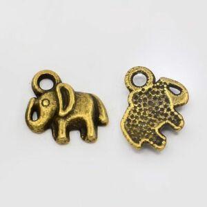 Antikolt bronz színű elefánt fityegő