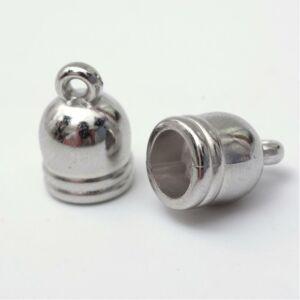 2db Antikolt ezüst zsinorvégzáró 12x8mm (kisebb)