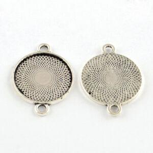 Antikolt ezüst színű sima szélű kapcsolóelem (22mm)