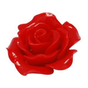 Piros műgyanta virág (20mm)