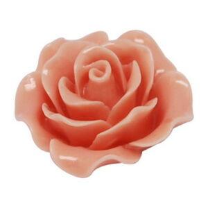 Világos korall műgyanta virág (20mm)
