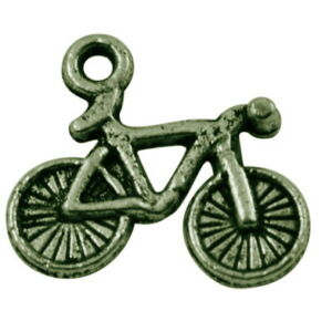 Antikolt bronz színű bicaj fityegő