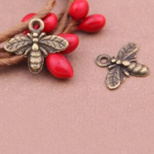 Antikolt bronz színű méhecske fityegő