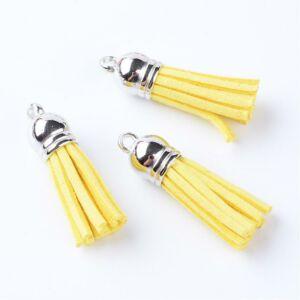 Világos sárga színű bőrbojt (27mm)