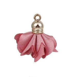 Pink virág alakú bojt (25x27mm)