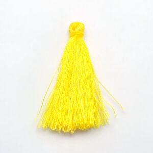 Sárga színű zsinórbojt (40mm)