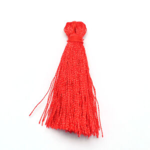 Vörös színű zsinórbojt (40mm)