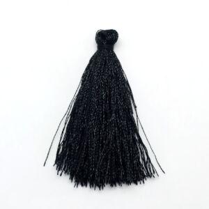 Fekete színű zsinórbojt (40mm)
