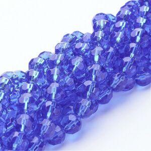 10db Sötét kék színű csiszolt üveggyöngy (8mm)