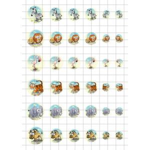 Állatok-10 Üveglencsés ékszerpapír több méret A5