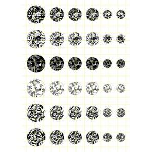 Fekete-fehér-1 Üveglencsés ékszerpapír több méret A5