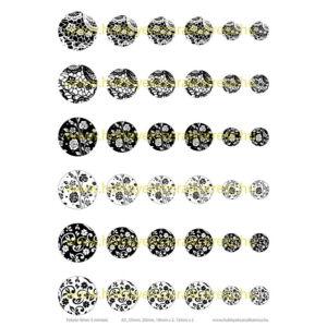 Fekete-fehér-3 Üveglencsés ékszerpapír több méret A5