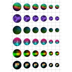 Galaxy-1 Üveglencsés ékszerpapír több méret A5