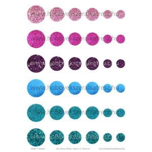 Glitter-1 Üveglencsés ékszerpapír több méret A5