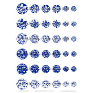 Kékfestős-4 Üveglencsés ékszerpapír több méret A5