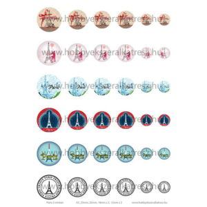 Paris-2 Üveglencsés ékszerpapír több méret A5