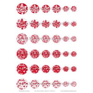 Pirosfestős-4 Üveglencsés ékszerpapír több méret A5