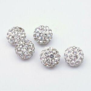 Strasszal díszített gyöngy (10mm)