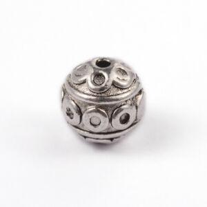 Antikolt ezüst színű golyó alakú gyöngy (8mm)