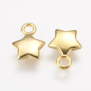 Arany színű csillag alakú fityegő
