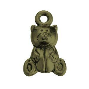 Antikolt bronz mackó fityegő