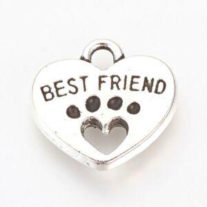 Ezüst színű Best friend fityegő (állatos)