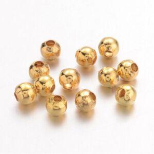 10db Arany színű golyó alakú köztes (4mm)