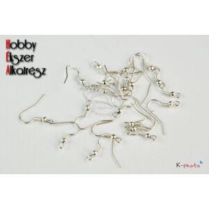 10 pár ant. ezüst színű akasztós fülbevalóalap (nikkelmentes)