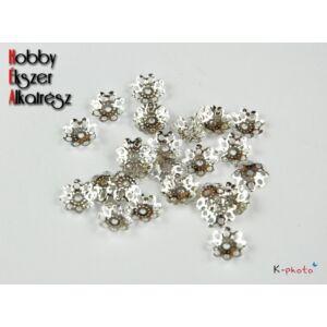10db Ezüst színű gyöngykupak