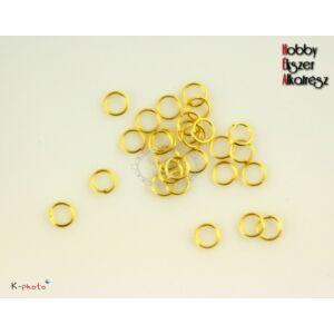 50db Arany színű szimpla szerelőkarika (6mm)