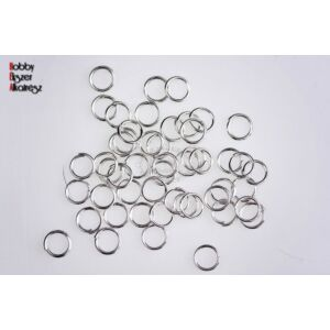 50db Ezüst színű szimpla szerelőkarika (5mm)