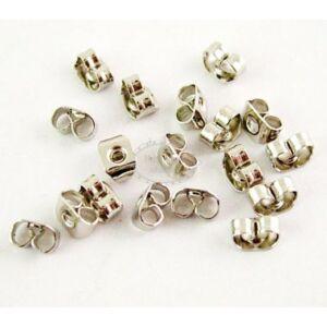 10db Antikolt ezüst színű fülbevalóvég