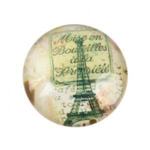 Antik Eiffel torony mintás üveglencse (25mm)
