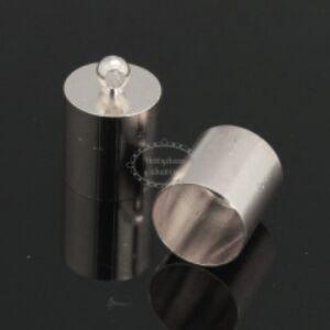4db Antikolt ezüst színű zsinórvég (10x6mm)